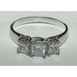 2.0 ct PRINCESS CUT diamond engagement ring platin